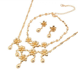 (146S)The Flower Classic Wedding Yellow Jewelry Sets (18k) for Free shipping