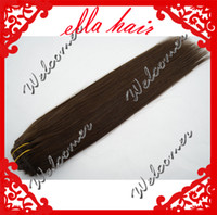 Wholesale Beautiful Clip In Hair Extensions Peruvian Human Hair Silky Straight g set quot quot Color