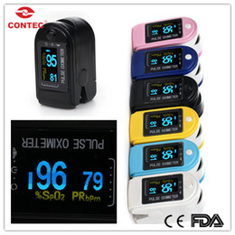 Wholesale Big Discount Pluse Oximeter Finger SPO2 Monitor CMS50D with CE amp FDA Approved Silicon Rubber Case