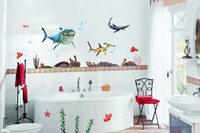 Wholesale Removable Finding Nemo Wall Stickers Cartoon Wall Stickers Decals Wall Decals Kids Room Wall Decor
