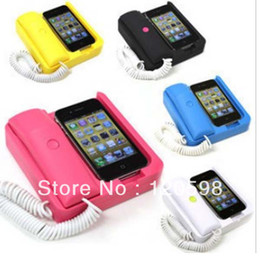 Wholesale Radiation resistant Vintage Retro Classic Phone Dock with Handset Receiver for iPhone S