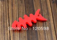 Wholesale Handfree Silicone Rubber Headset Fish Bone Earphone Cord Cable Winder Cord Wrap Organizer