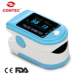 Wholesale SALES CE amp FDA new CMS50D SPO2 monitor color OLED display Fingertip Finger SpO2 PR Blood oxymetry monitor CONTEC colors option