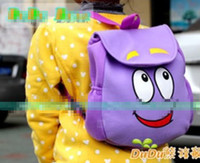 Wholesale Dora The Explorer Mr Face Plush Backpack Shool Bag Purple Toddler Size New