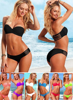 Hot Sexy Women Bikini Set Duplex Padded Cup Swimwear Halter ...