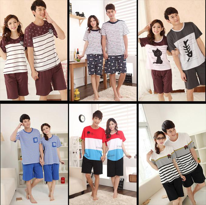 2017 2013 Summer Fashion Women Men Pajamas Sets High Quality ...