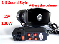 Wholesale 100W Car or Motorcycle Warning Siren Alarm Police Ambulance loudspeaker with MIC