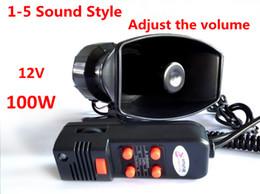 Wholesale 100W Car or Motorcycle Warning Siren Alarm Police Ambulance loudspeaker with MIC