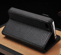 Wholesale About Universal Fashionable men and women iphone4s litchi grain cell phone case holster
