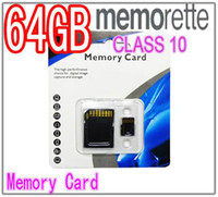 Wholesale 50pcs Memorette GB Class Micro SD TF Memory Card Adapter Retail Package Flash SD SDHC Cards bd
