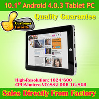 Wholesale Best Gift quot Real Google Android Tablet PC Vimicro VC0882 GB GB WIFI G HDMI MID Tablet