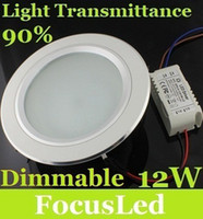 Wholesale 2014 Best W Led Downlights Fixture Ceiling Light V Dimmable Led Down Lights Cool Warm White
