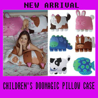 Wholesale New Arrival Children s doomagic pillow case models Animals Cartoon pillow cover pil