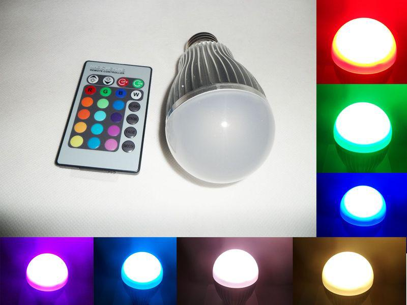 10w Change Rgb Led Light Bulb Lamp Ac 85 265v 24 Key Ir Remote Control 12w Led Bulb 15 Watt Led