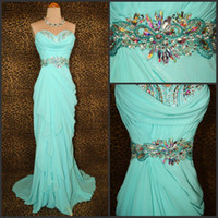 Chiffon Sleeveless Floor-Length Real picture!sweetheart beads rhinestone ruffle chiffon grace evening dresses sexy long party gowns