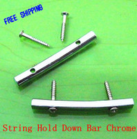 Wholesale 10pair Brass Guitar string retainer bar for Electric Guitar mm String Hold Down Bar Chrome