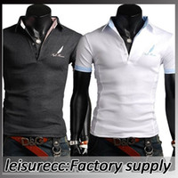 Men  cotton Polo Cotton Ball Can Not Afford England Slim Foreign Men In Feather Embroidery Collar Short Sleeved Polo Slim lapel T-Shirts M L XL XXL