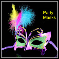 Wholesale 2013Hot Selling Beautiuufl Feather Butterfly Party Masks colors for Masquerade Masks Supplies new