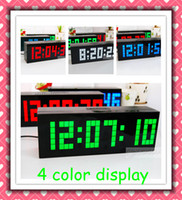 Wholesale 2013 Latest Large Jumbo LED Wall Table Desk Digital Alarm Calendar Temperature Snooze Clocks Display