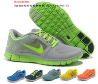 Wholesale men s nike free run shoes women s nike genuine same quality Athletic sneaker sport shoes nike shoes free ems nike