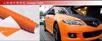 Wholesale 3D Carbon Fiber Flexible Vinyl Film wrap Car Sticker Orange Color m m Fedex