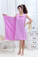 Wholesale swimwear Changed Magic Towel Bathrobe Wrap Dress changed can wear big towel bath towel