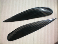 Wholesale Carbon Fiber Headlight Eyebrows Eyelids Covers for Mitsubishi Lancer ES OZ CH