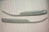 Wholesale Silver Carbon Fiber Headlight Eyebrows Eyelids Covers for Mitsubishi Lancer Evolution