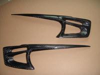 Wholesale Carbon Fiber Headlight Eyebrows Eyelids Covers for Mitsubishi Lancer Evolution Outlander