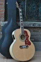 Wholesale SJ200 Natural Peter Townshend Acoustic Electric Guitar Back Side Tiger Fishman mic pickup