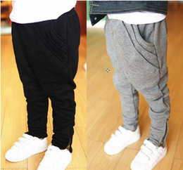 Wholesale Spring autumn Chidlren casual Harem pants new style pure cotton plus fours individuality boys pants kids trousers Year size