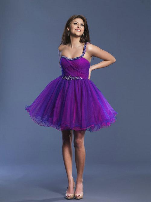Purple Graduation Dresses For Grade 8 - Missy Dress