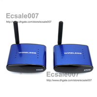 Wholesale Brand New GHz Wireless A V Audio Video Transmitter Receiver For DVD DVR CCD Camera IPTV TV