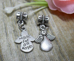 Wholesale 75pcs Tibetan Silver Cute Angel Charm Amulet Pendant Fit Bracelet x14mm