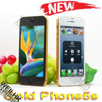 Wholesale Dual core MTK6577 android gold cel phone hiphone S G GB RAM GB ROM micro single sim