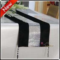 Wholesale New arrive Wedding Party Decorating Fabric table runner Gorgeous velvet Table Runners tablecloth