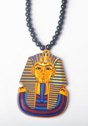 Fashion jewelry Hip hop acrylic Pharaoh Pendant beads necklace 25pcs lot Freeshipping