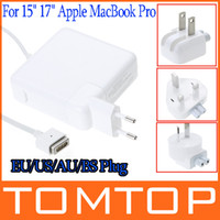Wholesale For Apple quot inch MacBook Pro W Magsafe AC Power Adapter Charger EU AU US BS Plug C1623EU