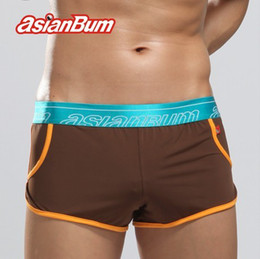 Wholesale Hot Sale Asianbum Underwear Ice Silk Man Boxers Steel Male Home Pants Sexy Low Boy Waist Briefs