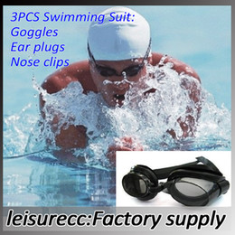 Wholesale Hot sell Resin Cheap Goggles Swimming Goggles Swimming Suit Goggles Ear Plugs Nose Clips HW0238
