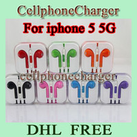 Wholesale Earphone Headphone for Iphone Earpods Headset with Volume Control for Iphone5 G with Retail Box