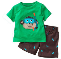 bean shorts - Jumping Beans Children Suits Boy Short Sleeve T shirts And Shorts Piece Suits Baby Clothes