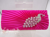 Wholesale Satin CRYSTAL Evening Clutch Cocktail Wedding Bridal Party Bag hot sale colors