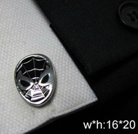 Wholesale The Evil spider man style Shirt cuff Cufflinks cuff links drop shipping for men s gift