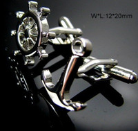 anchor tie clip - rudder and anchor shape Shirt cuff Cufflinks cuff links drop shipping for men s gift