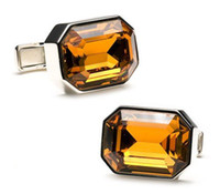 amber cufflinks - Amber Orange Crystal Cufflinks Wedding Gifts for Groomsmen cfa76