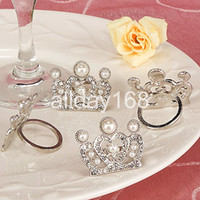Wholesale Crown Shower Favors - Wedding Decorations Wedding Favors silver imperial crown Napkin Rings Wedding Bridal Shower Favour 2016 free shipping