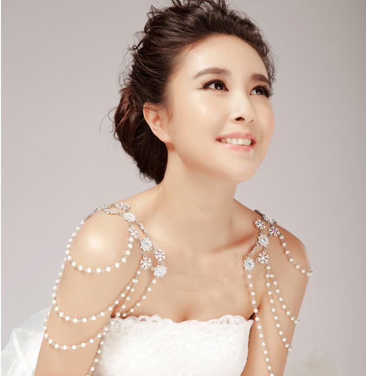pearl necklace fashion bridal jewelry diamond chain