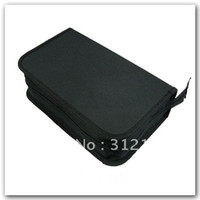 Wholesale 1pcs disc CD DVD Holder Storage Wallet Black Case Bag hot sell