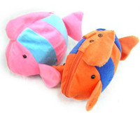 Wholesale Cartoon tropical fish plush cd bag fashion cd bag cd box toy cd package disc pack